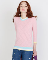 pink Savida Pointelle Tipped Jumper