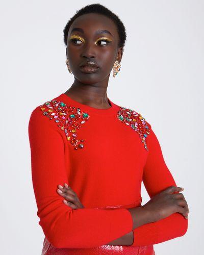 Savida Embellished Shoulder Jumper