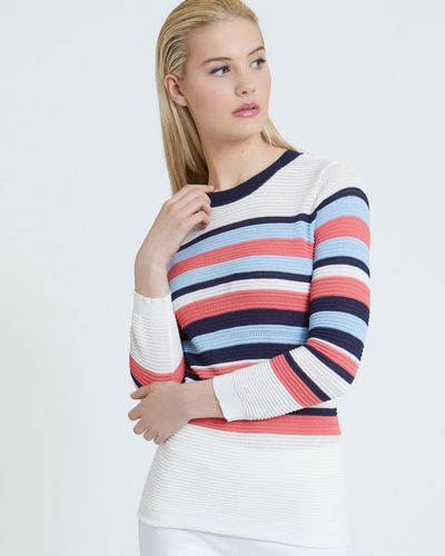 Savida Striped Knitted Jumper