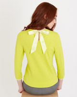 lime Savida Tipping Jumper With Tie