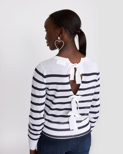 Savida Stripe Bow Back Jumper