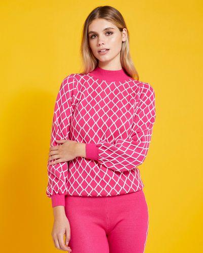 Savida Diamond Pattern Knit Jumper