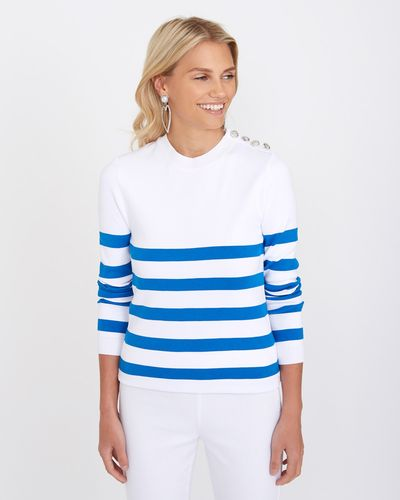 Savida Stripe Shoulder Button Jumper thumbnail