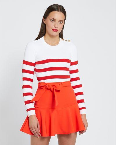 Savida Stripe Shoulder Button Jumper thumbnail