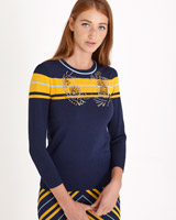 navy Savida Beaded Jumper
