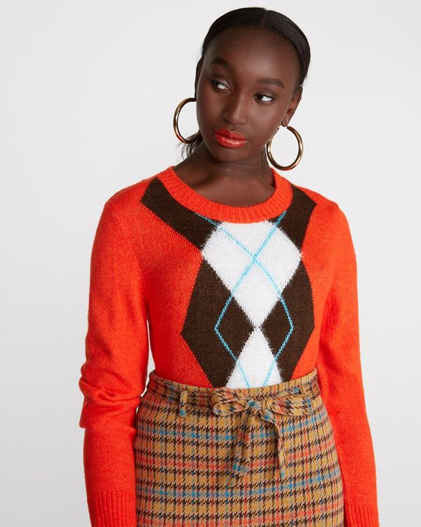 Savida Retro Diamond Front Jumper