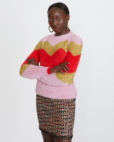Savida Fluffy Stripe Jumper thumbnail