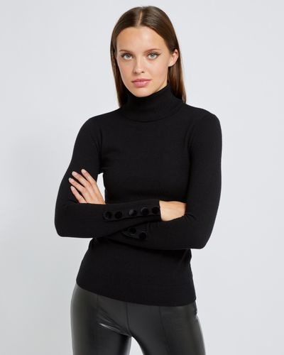 Savida Velvet Button Cuff Jumper thumbnail