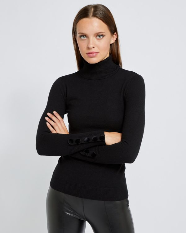 Savida Velvet Button Cuff Jumper