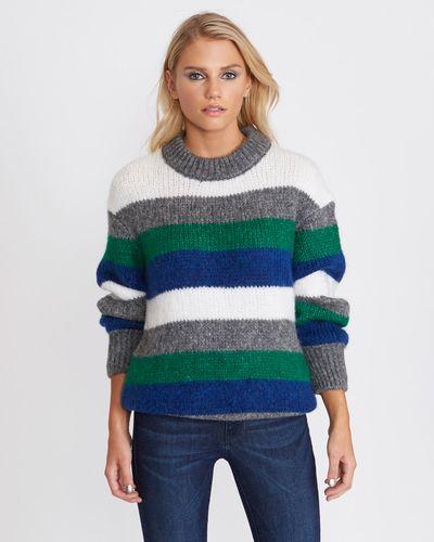 Savida Multi-Coloured Stripe Jumper thumbnail
