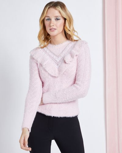 Savida Embellished Jumper With Ruffle