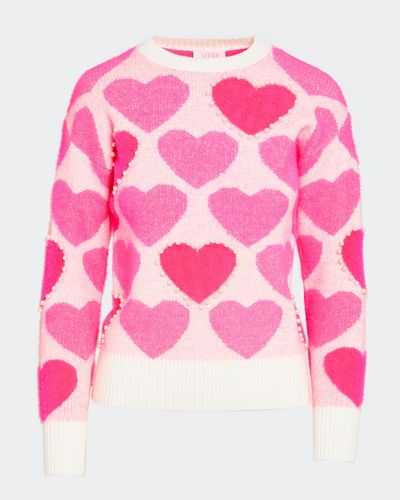 Savida Heart Pearl Pattern Jumper