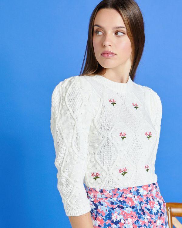 Savida Johanna Embroidered Knit Jumper