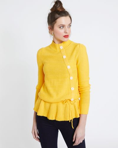 Savida Button Tie Hem Jumper