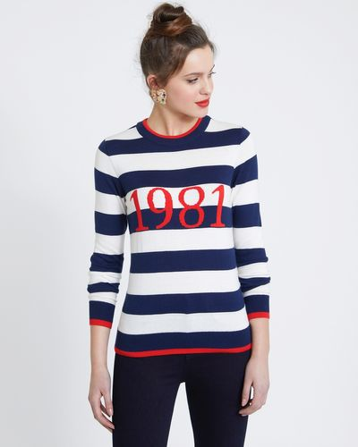 Savida Stripe Slogan Jumper thumbnail