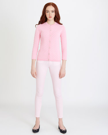 light-pink Savida Textured Cardigan