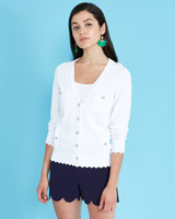 optic-whit Savida Pointelle Cardigan