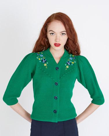 greenSavida Embroidered Cardigan