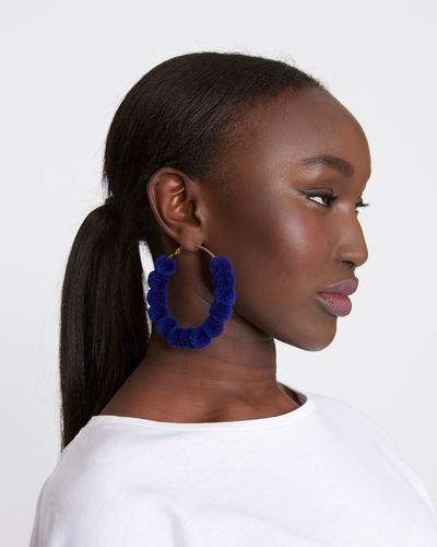 Savida Pom Pom Hoop Earrings