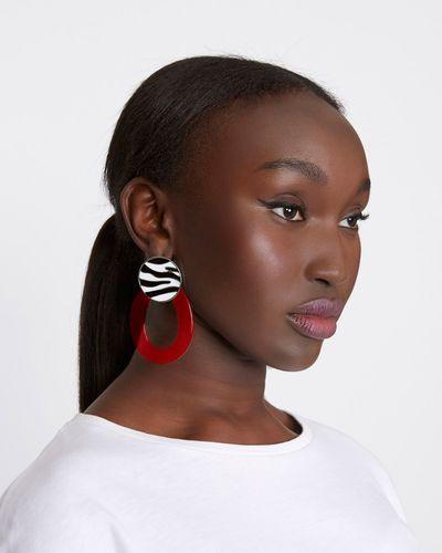 Savida Zebra Earrings