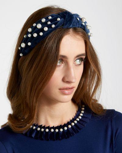 Savida Pearl Fabric Hairband