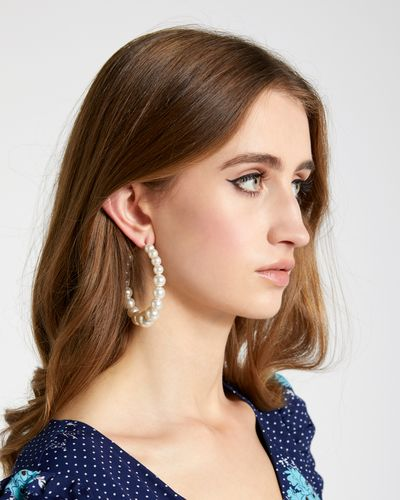 Savida Pearl Hoop Earrings thumbnail