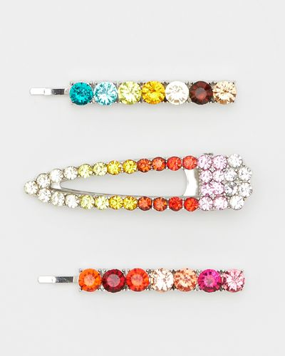 Savida Multicoloured Jewel Hair Clips - Pack Of 3
