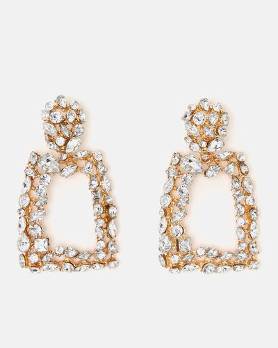 Savida Square Diamante Earrings