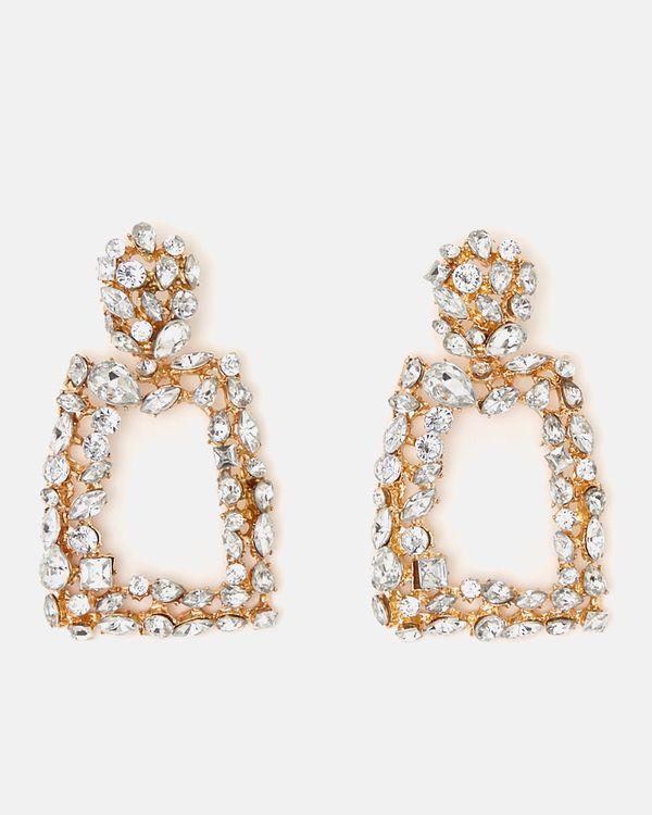 Savida Square Diamante Earrings