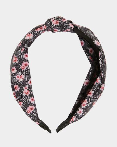 Savida Zebra And Floral Print Hairband