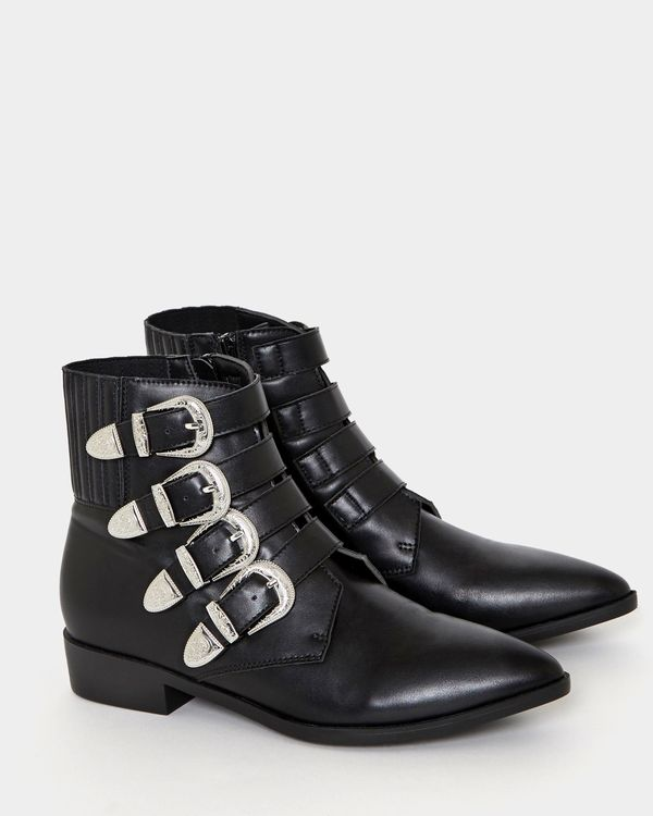 Savida Silver Buckle Boot