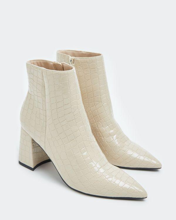Savida Cream Croc Boots