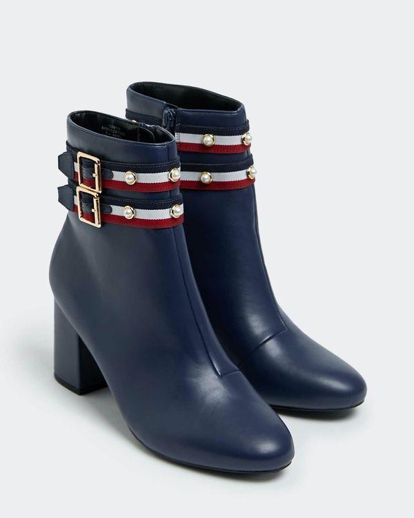 Savida Stripe Buckle Boots