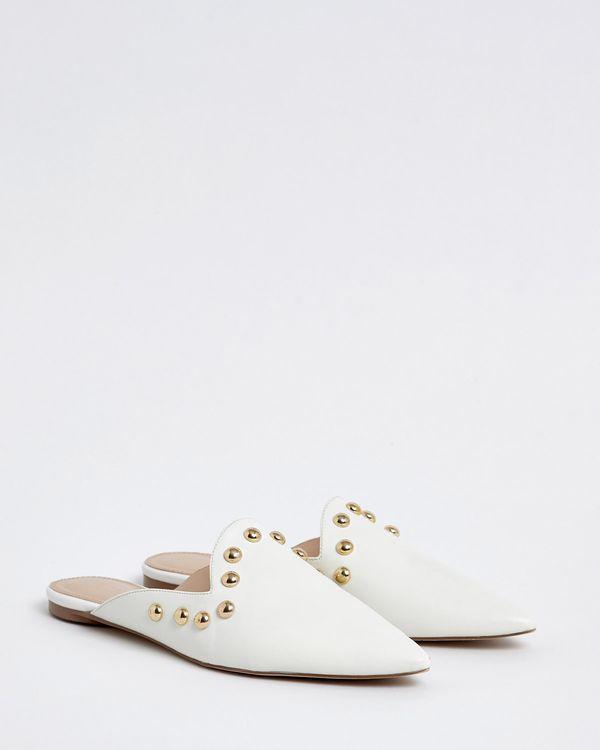 Savida Stud Flat Mule Shoes