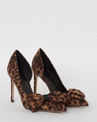 Savida Leopard Bow Heels