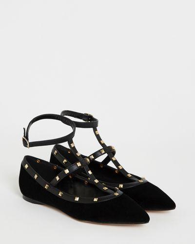 Savida Stud Strap Flat Shoe