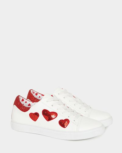 Savida Sequin Heart Trainers