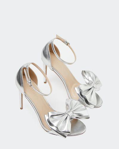 Savida Metallic Bow Heel Shoes