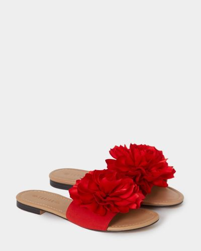 Savida Flower Slip On Sandals