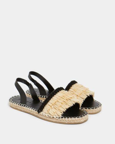 Savida Pom Pom Raffia Sandals