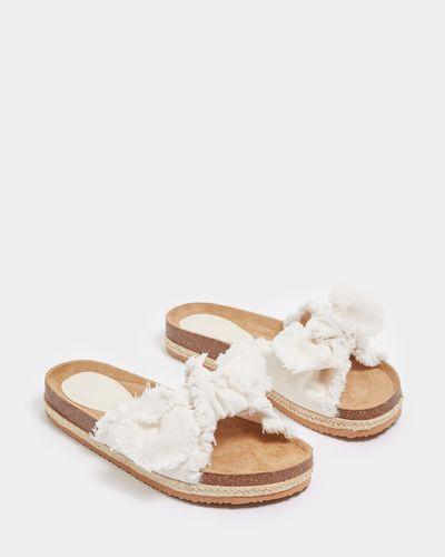 Savida Bow Tie Footbed Sandals