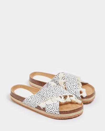 Savida Tassel Animal Print Sandal