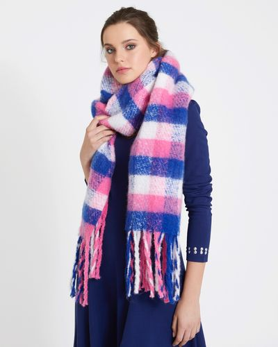 Savida Small Check Pattern Scarf