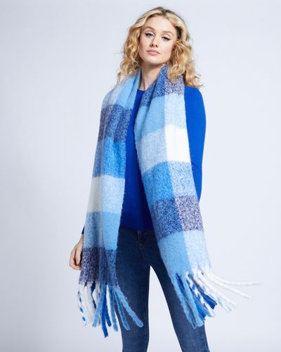 Savida Check Fluffy Scarf
