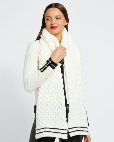 Savida Chunky Knit Stripe Scarf