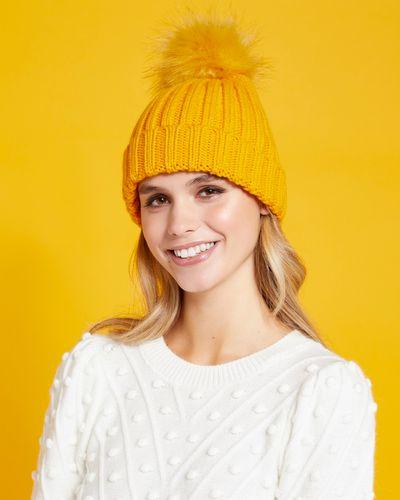 Savida Ribbed Pom Hat