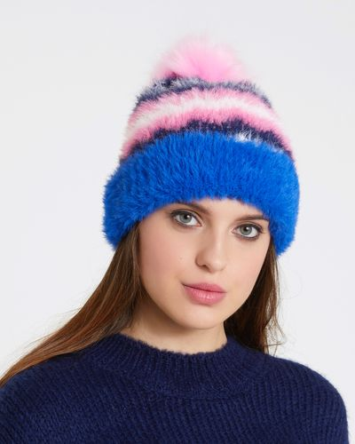 Savida Fluffy Multicolour Hat