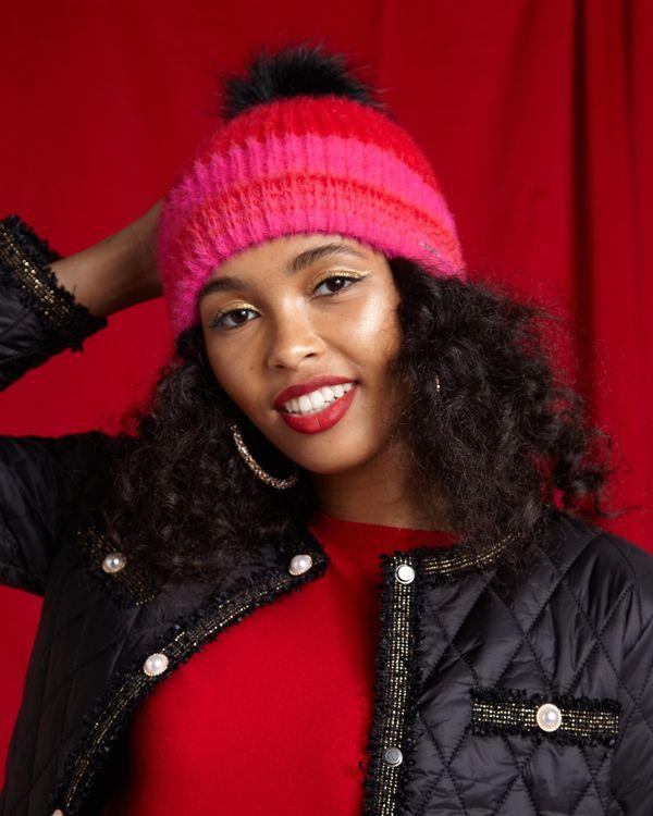 Savida Fluffy Stripe Hat