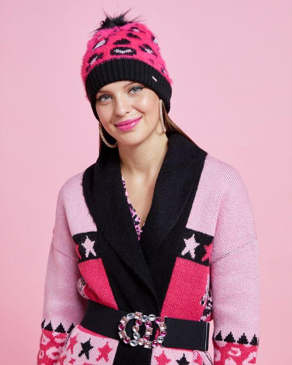Savida Leopard Print Lurex Hat