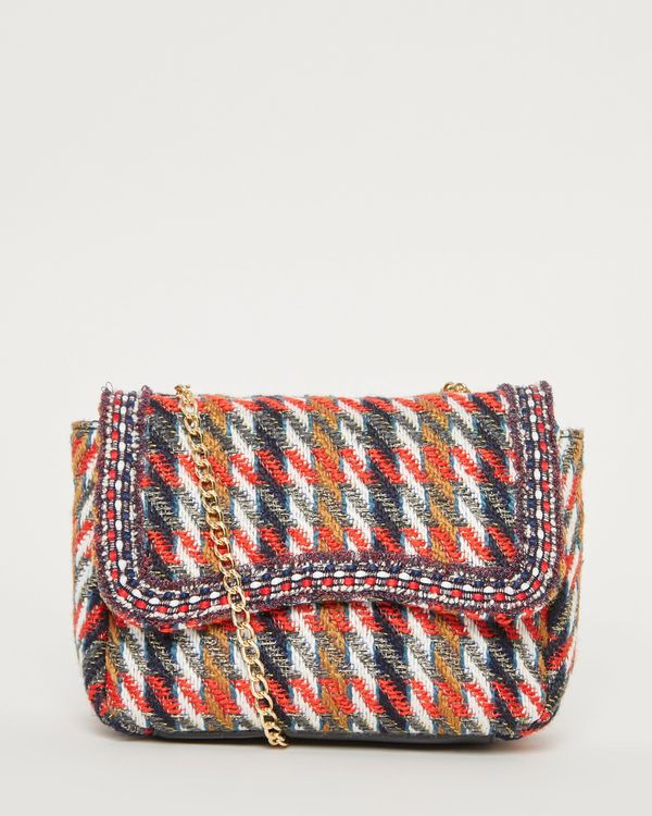 Savida Tweed Trim Detail Bag